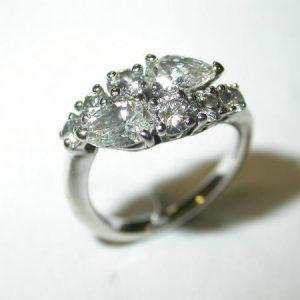 Bague or blanc, toi et moi, diamants poires