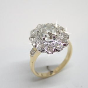 Bague pompadour diamants
