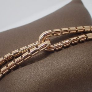 Bracelet « tube » or rouge