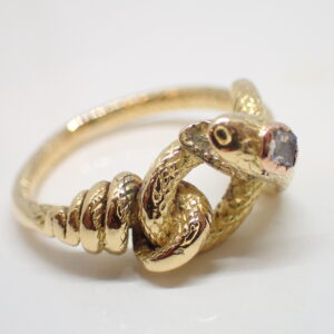 Bague « serpent » or jaune