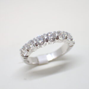 Alliance or blanc diamants  en serti barrette