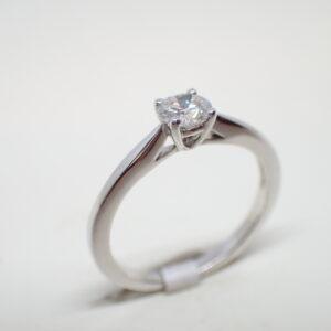 Solitaire  diamant brillant certifié blanc exceptionnel