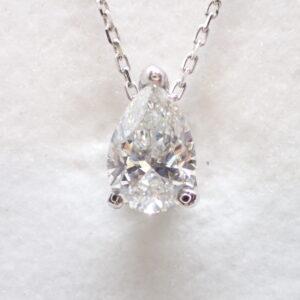 Pendentif diamant poire certifié G-Si (0,81 carat)