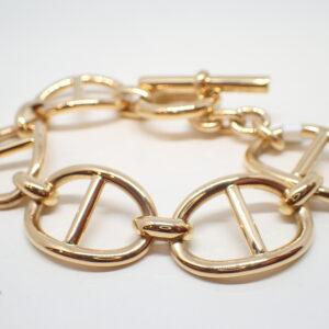 Bracelet or jaune maille marine ajourée