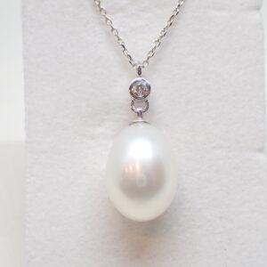 Pendentif perle poire et diamant