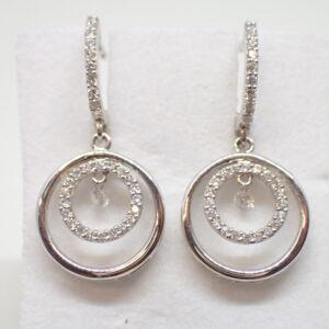 Pendants d'oreilles cercles diamants