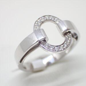 Bague ceinture et anneau diamants