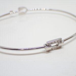 Bracelet semi rigide motif diamants