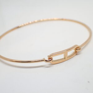 Bracelet semi rigide or rose motif maille marine
