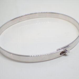 Bracelet or blanc ruban flexible