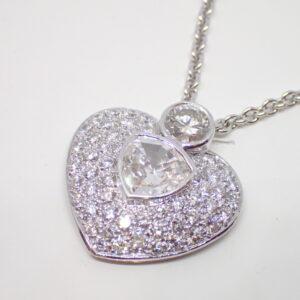 Pendentif coeur diamant tricorne