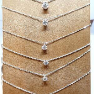 Pendentifs «goutte» diamants brillants