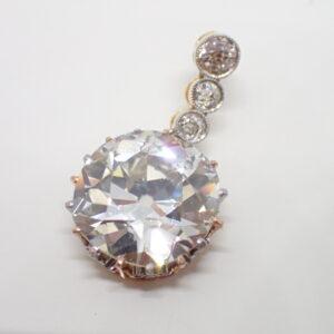 Diamant taille ancienne brillantée de 6,80 carats