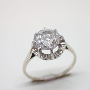 Solitaire or blanc diamant 1,50 carat