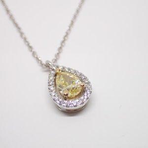 Pendentif diamant jonquille