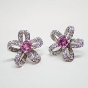 Boucles d'oreilles «fleurs» centre ammovible