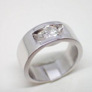 Bague bandeau solitaire diamant
