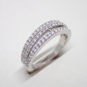 Bague 3 anneaux diamants
