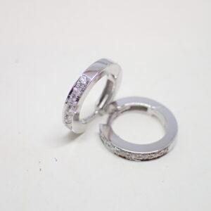 Mini creoles or et diamants