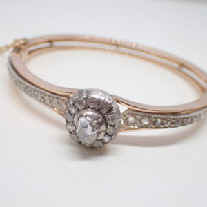 Bracelet or rose et diamants  vers 1860