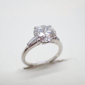 Solitaire diamant 2,17 carats, signé Cartier