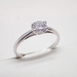 Solitaire diamant brillant 0,55 carat G SI